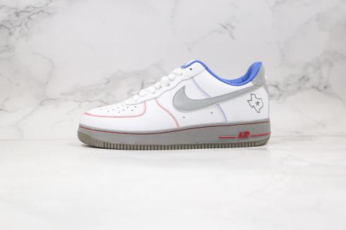 Nike Air Force 1 Low White Cool Grey Royal Blue Shoes DH0902-108