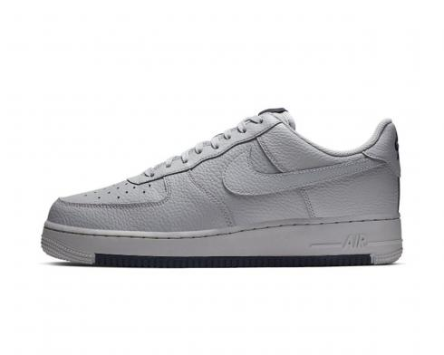 Nike Air Force 1 Low Wolf Grey Obsidian Running Shoes AO2409-002