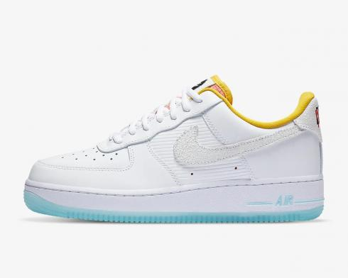 Nike Wmns Air Force 1 07 Corner Markets White Dark Sulfur Hyper Pink CZ8132-100