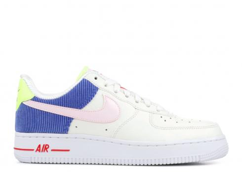 W Air Force 1 Low Corduroy Pink Blue