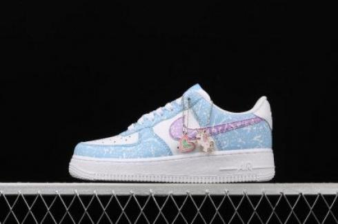 Wmns Nike Air Force 1'07 React QS Blue Purple White CZ6928-100