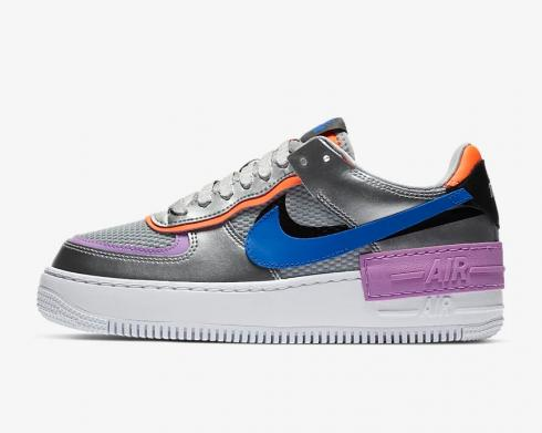 Wmns Nike Air Force 1 Shadow Metallic Silver Fuchsia Glow CW6030-001