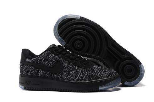 Nike Air Force 1 Ultra Flyknit Low Black Dark Grey White NSW HTM Lifestyle Shoes 817419 004