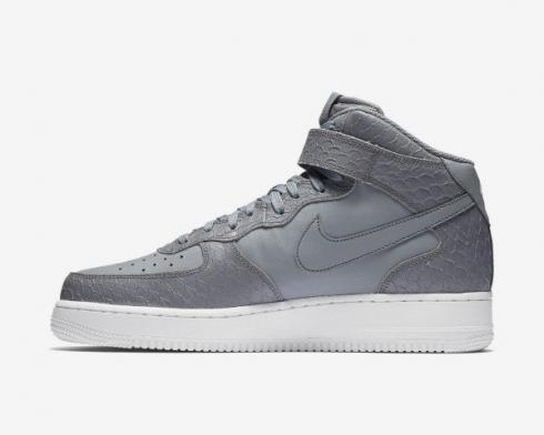 Nike Air Force 1 07 Mid LV8 Cool Grey White Mens Shoes 804609-004