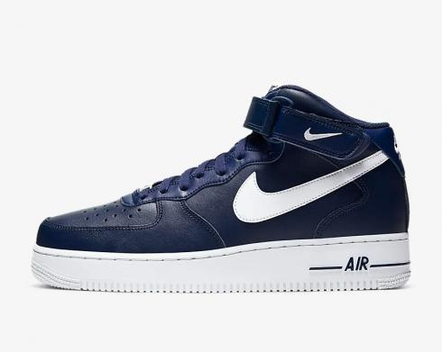 Nike Air Force 1 07 Mid Midnight Navy White Blue CK4370-400