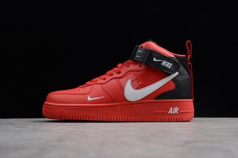 Nike Air Force One Mid '07 Lv8 University RedWhite Black Tour Yellow 804609 605 New Release