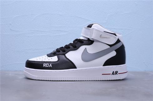 Nike Air Force 1 Mid 07 White Black Unisex Basketball Shoes 596728-303