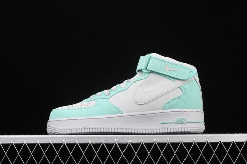 Nike Air Force 1 Mid GS Island Green Pure Platinum Unisex Shoes 596729-301
