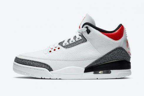 Air Jordan 3 SE T Fire Red Japan Exclusive White Fire Red Black CZ6433-100