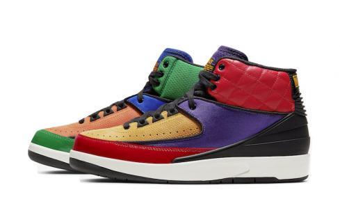 Air Jordan 2 WMNS Multicolor University Red Black Court Purple CT6244-600
