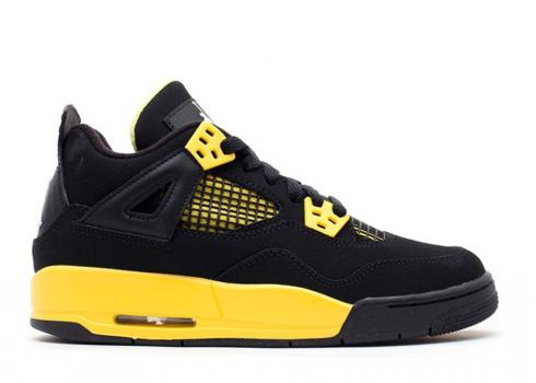 Air Jordan 4 Retro Gs Thunder White Black Tour Yellow 408452-008