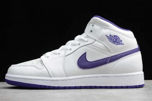 2019 Air Jordan 1 Retro High GG White Court Purple 332148 137