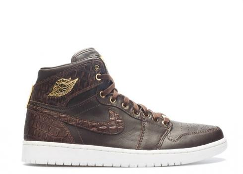 Air Jordan 1 Pinnacle Croc Brown Baroque White Gold Metallic 705075-205