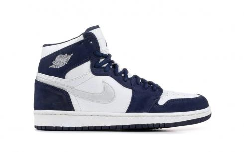 Air Jordan 1 Retro High OG Midnight Navy Mens Shoes 555088-141