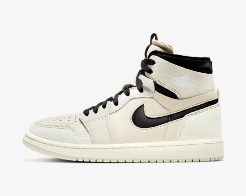 Wmns Air Jordan 1 Zoom Summit White Black Light Orewood Brown CT0979-100