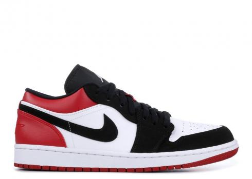 Air Jordan 1 Low Black Toe White Gym Red 553558-116
