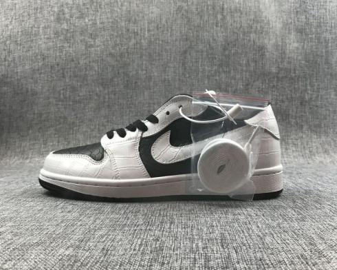 Air Jordan 1 Low White Black Mens Basketball Shoes AO9966-001