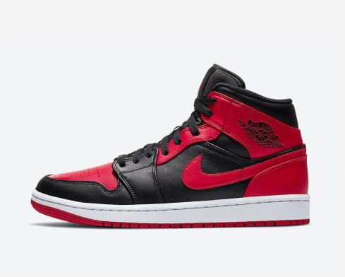 Air Jordan 1 Mid Banned 2020 Black University Red White 554724-074