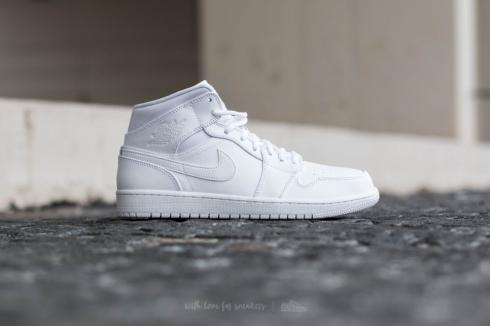 Air Jordan 1 Mid White Black 554724-110