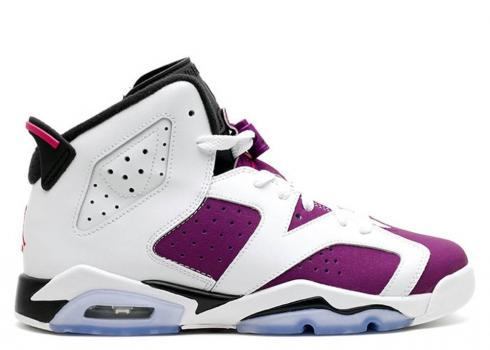 Air Jordan 6 Retro Gg Gs Vivid Pink Grp Black White Bright 543390-127