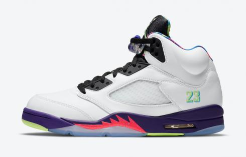 Air Jordan 5 Retro Alternate Bel Air White Purple Pink Green DB3335-100