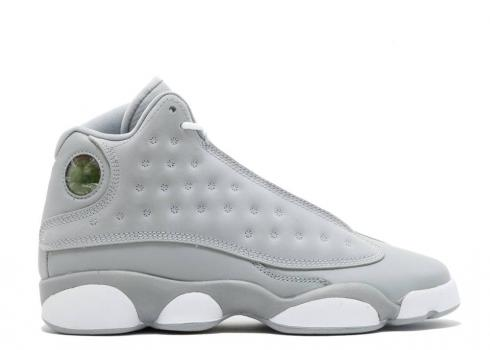 Air Jordan 13 Retro Gs Wolf Grey Pink Deadly White 439358-018