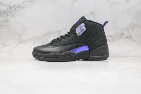 Air Jordan 12 Retro Dark Concord Black Purple White Basketball Shoes CT8013-005