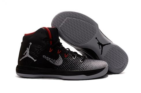 Nike Air Jordan XXXI 31 Fine Print Black White Wolf Grey Contract Red 845037-003