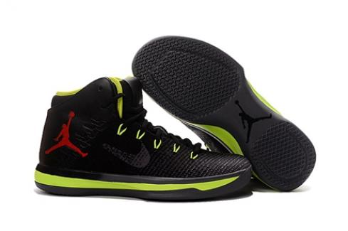 Nike Air Jordan XXXI 31 Men Basketball Shoes Black Flu Green Red 845037-102