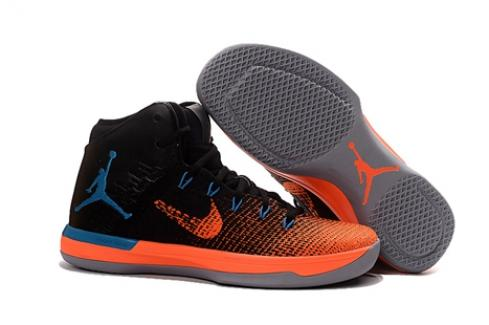 Nike Air Jordan XXXI 31 Men Basketball Shoes Black Orange Blue 845037-108