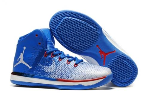 Nike Men Air Jordan XXXI Men Basketball Shoes Royal Blue Red White 845037-008