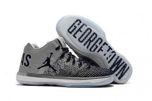 NIKE AIR JORDAN XXXI LOW George grey Blue white MEN BASKETBALL SHOES
