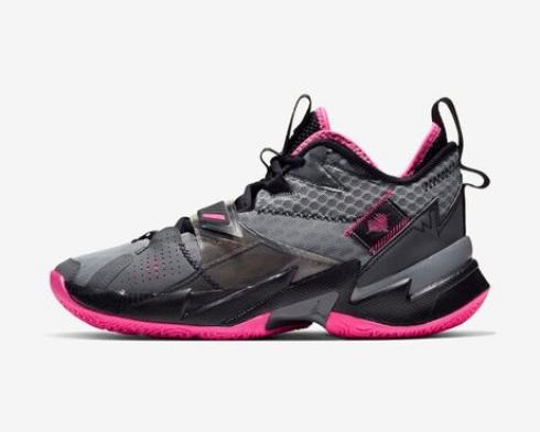 Air Jordan Why Not Zer0.3 PF Hearbeat Particle Gray Pink Blast Black CD3002-003