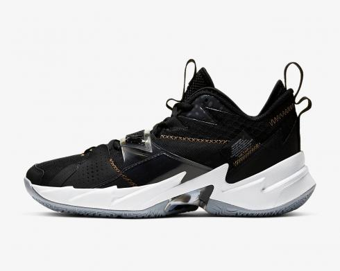 Air Jordan Why Not Zer0.3 The Family Black Metallic Gold White CD3003-001