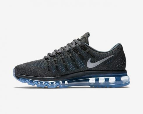 Nike Air Max 2016 Anthracite Reflect Silver Chalk Blue Mens Shoes 806772-004