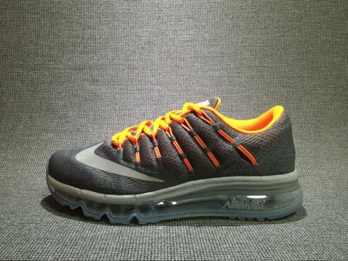 Nike Air Max 2016 Grey Orange Trainers Womens Shoes 807236-008