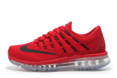 Nike Air Max 2016 University Red Black Gym Red Mens Shoes 806771-601