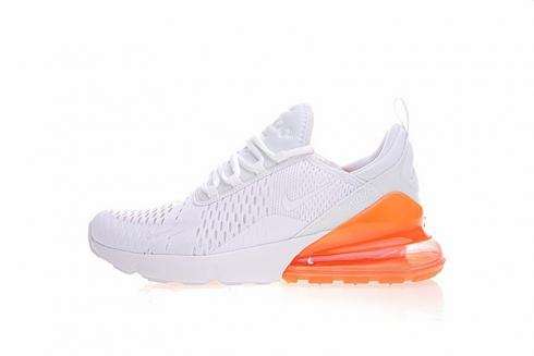 Nike Air Max 270 All White Orange Total Athletic Shoes Ah8050 118