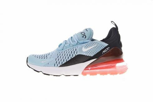 espacio personal nombre de la marca  Nike Air Max 270 Flyknit Ocean Bliss Light Blue Black Hot Punch AH6789-400  - FebRun