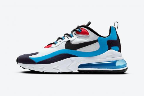 Nike Air Max 270 React White Photo Blue-University Red Shoes DA2400-100