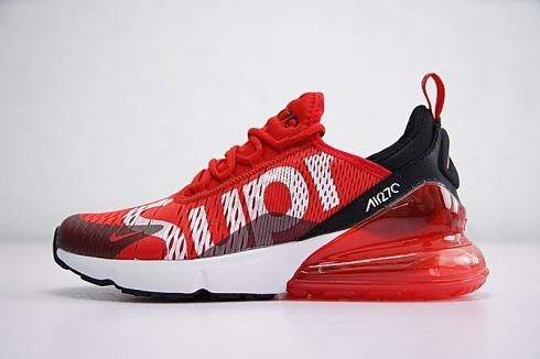 Supreme X Nike Air Max 270 RedWhite Men's And Women's Size Running Shoes Big Deals