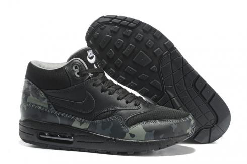 Nike Air Max 1 Mid FB Black Cool Grey White Camo Men Running Shoes 685192 001
