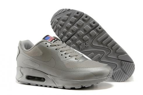 Nike Air Max 90 Hyperfuse QS Sport USA All Silver July 4TH Independence Day 613841 888