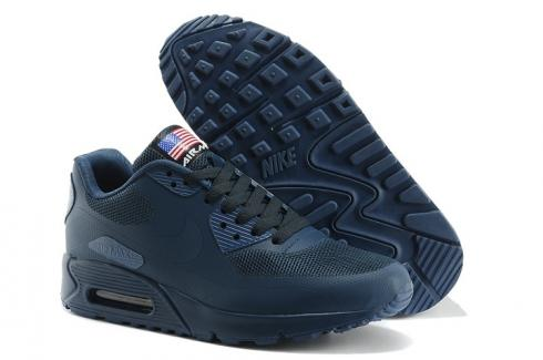 Nike Air Max 90 Hyperfuse QS Sport USA Navy Blue July 4TH Independence Day 613841 440
