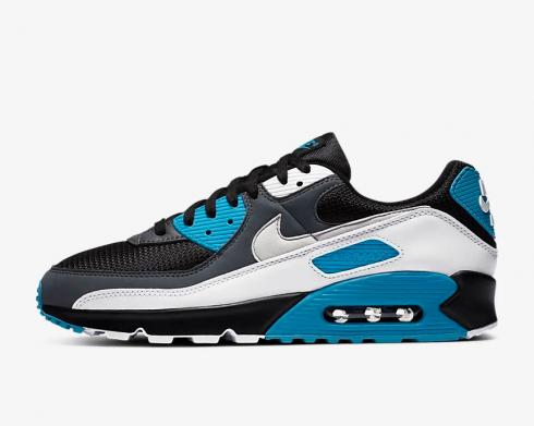 Nike Air Max 90 Black Blue White Running Shoes CT0693-001
