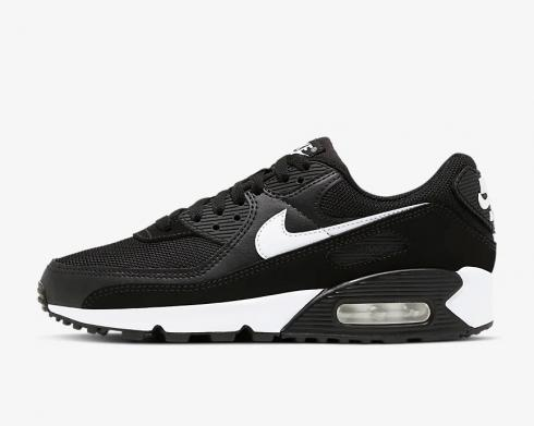 Wmns Nike Air Max 90 Black White Running Shoes CQ2560-001