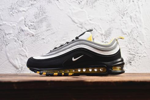 Nike Air Max 97 Black White Yellow Shoes Casual Sneakers 921522