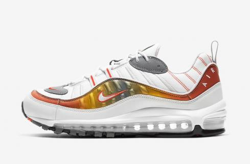 Nike Air Max 98 White Grey Orange CD0132-002