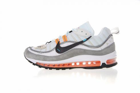 Purchase Virgil Abloh x Nike Air Max 98 Grey Orange Running Shoes 640744-086