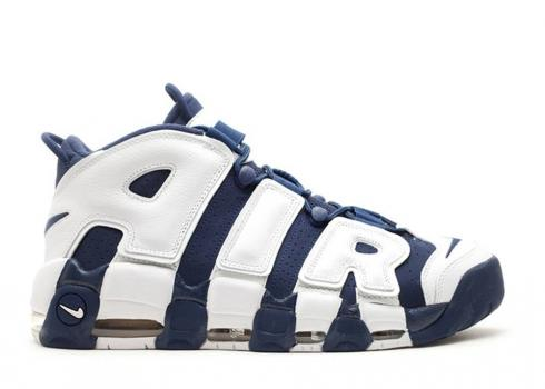 Nike Air More Uptempo Hoh Navy White Sport Mid Red 432353-416